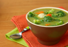 Vegetable Vegetarian Soup Stock Photo
