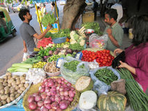 Vegetable Vendor in Delhi India Royalty Free Stock Image