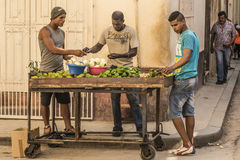 Vegetable vendor Havana Royalty Free Stock Photos