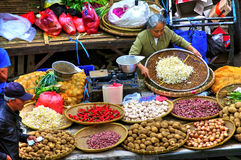 Vegetable vendor, Indonesia Stock Image