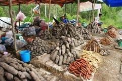Vegetable vendor Stock Photo