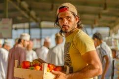 Vegetable Vendor. A vegetable vendor in Mawaleh Market, Muscat Oman Stock Photography