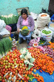 Vegetable Vendor in Peru Stock Photos