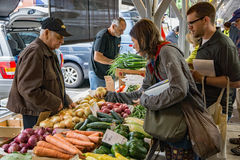 Vegetable Vendor at the Roanoke City Market royalty free stock photos