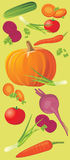 Vegetable vertical banner Royalty Free Stock Photography