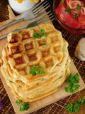 Vegetable waffles для завтрака Стоковая Фотография