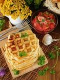 Vegetable waffles для завтрака Стоковая Фотография RF