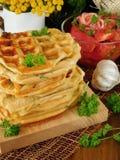 Vegetable waffles для завтрака Стоковое Изображение