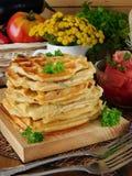 Vegetable waffles для завтрака Стоковое Изображение RF