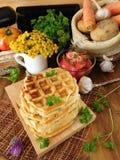 Vegetable waffles для завтрака Стоковые Изображения RF