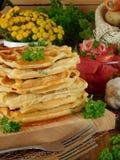 Vegetable waffles для завтрака Стоковые Фотографии RF