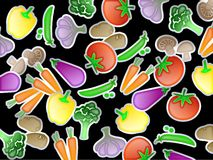 Vegetable Wallpaper vector illustration