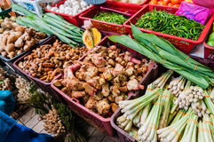 Vegetable at wet market. Malaysia stock images