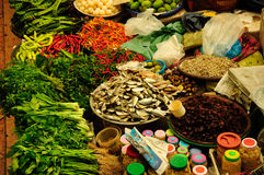 Vegetable and wet market. Siti Khadijah Market in in Kota Bharu, Kelantan, Malaysia, Asia Stock Photos