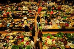 Vegetable and wet market. Siti Khadijah Market in in Kota Bharu, Kelantan, Malaysia, Asia Stock Photography