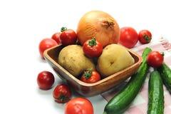 Vegetable on white background Royalty Free Stock Photo