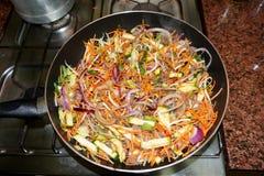 Vegetable wok Royalty Free Stock Photos