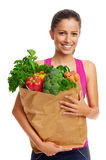 Vegetable woman Royalty Free Stock Photo