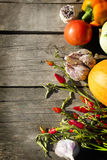 Vegetable on a wood background Royalty Free Stock Photo