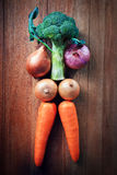 Vegetable on wood table Stock Photography