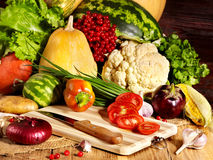 Vegetable on wooden boards. Stock Photography