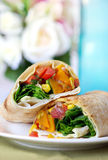 Vegetable Wrap Stock Photo