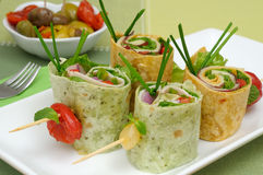Vegetable wrap brochettes Stock Photos