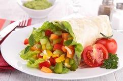 Vegetable wrap Royalty Free Stock Photo