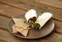 Vegetable wrap Stock Photography