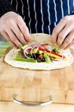 Vegetable wraps Royalty Free Stock Photo