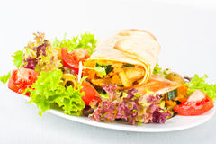 Vegetable wraps Royalty Free Stock Photos