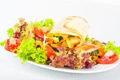 Vegetable wraps Royalty Free Stock Photos