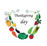 Vegetable wreath. Bouquet of vegetables on Thanksgiving Day Stock Image