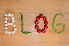 Vegetable writing: Blog Royalty Free Stock Photos