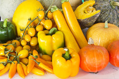 The vegetable is yellow , Royalty Free Stock Images