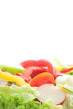 Vegetables. Mixed vegetables on a white background Royalty Free Stock Photo