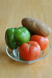 Vegetables. A platter with vegetables royalty free stock images