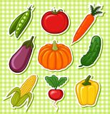 Vegetables. Set vegetables. There is a format stock illustration