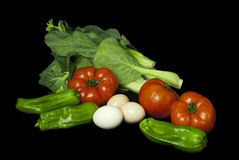 Vegetables. Harvest. Fresh vegetables isolated on black Royalty Free Stock Image
