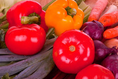 Vegetables. A selection of fresh vegetables Stock Photo