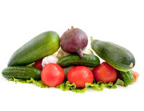 Vegetables. Isolated vegetables on white background Royalty Free Stock Images