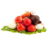 Vegetables. Isolated vegetables on white background Stock Photo