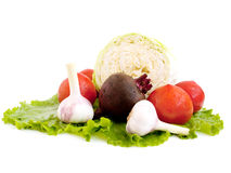 Vegetables. Isolated vegetables on white background Royalty Free Stock Photo