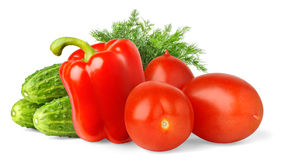 Vegetables. Over white background with shadow royalty free stock photo