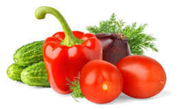 Vegetables. Over white background with shadow stock photography