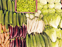 Vegetables. Newly harvested fresh fruits and vegetables from the farm Stock Image