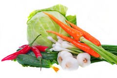 Vegetables. On a white background Stock Images