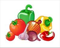 Vegetables. Vector illustration of harvest of different vegetables royalty free illustration