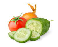 Isolated vegetables stock images