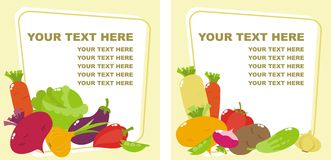 Vegetables. Banners with a variety of vegetables Royalty Free Stock Images